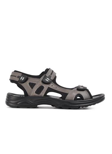 Castle Black K-2 Siyah Erkek Sandalet Füme